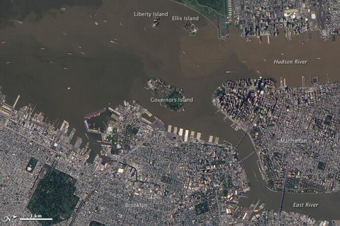 Rzeka hudson 12 wrzesnia 2011 roku/NASA