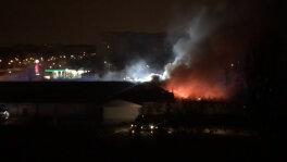 Pożar sklepu w Warszawie