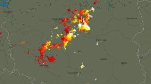 Przybywa burz nad Polską. Miejscami są silne