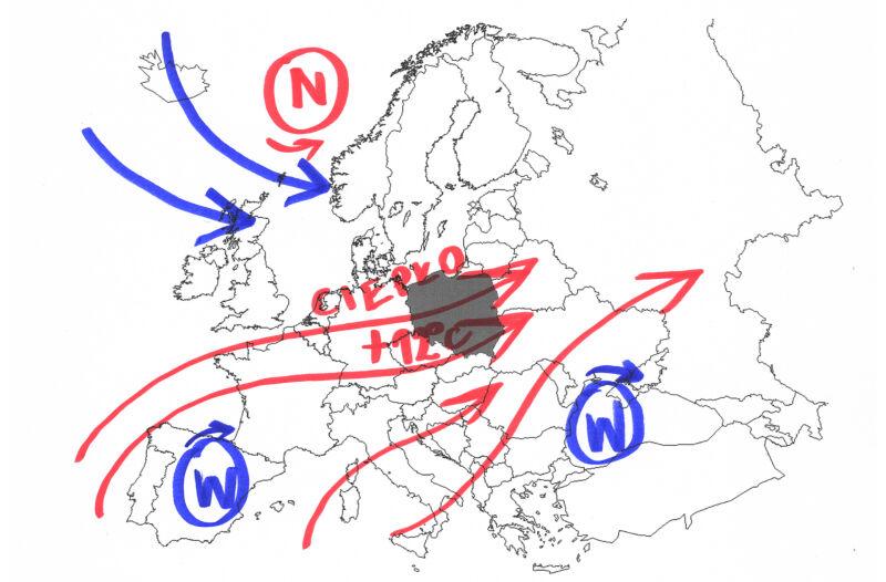 Sytuacja pogoda w Europie