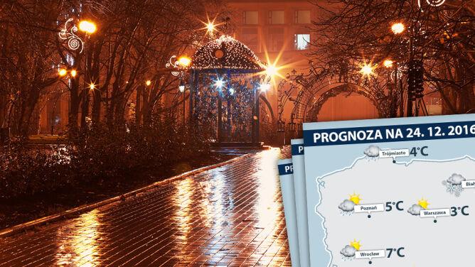 Dużo deszczu i silny wiatr. To będą ciepłe święta Bożego Narodzenia