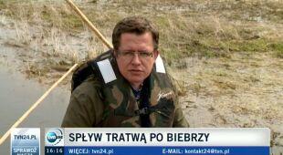 Spływ tratwą po Biebrzy (TVN24)