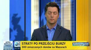 Gradobicie w Bisztynku (TVN24)